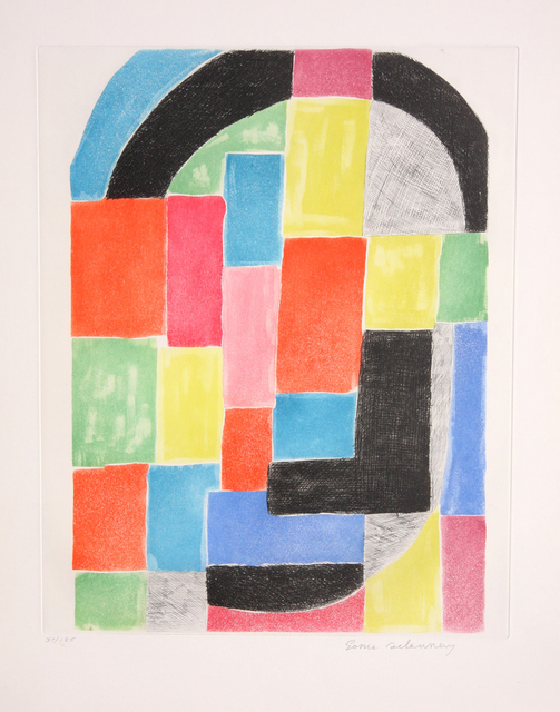Sonia Delaunay, 'Composition with Arc', ca. 1970, Print, Etching, Vanessa Villegas Art Advisory