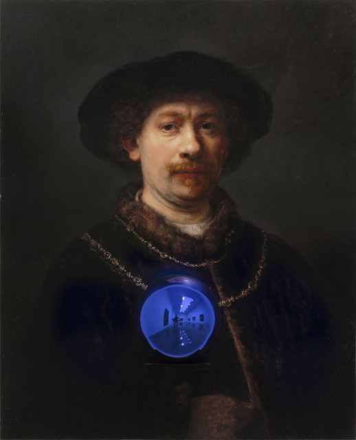 , 'Gazing Ball (Rembrandt Self-Portrait Wearing a Hat),' 2015, Gagosian