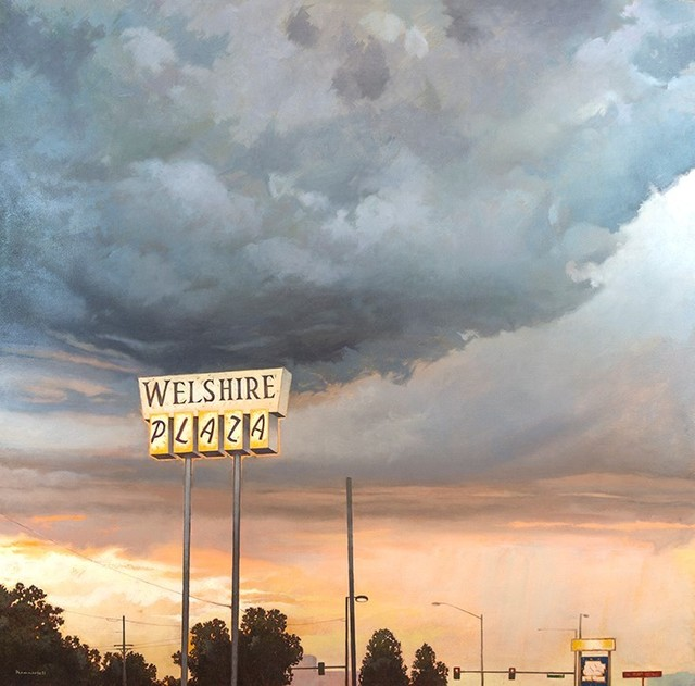 David Kammerzell, 'Storm Over Colorado Boulevard', 2016, Painting, Oil, Abend Gallery