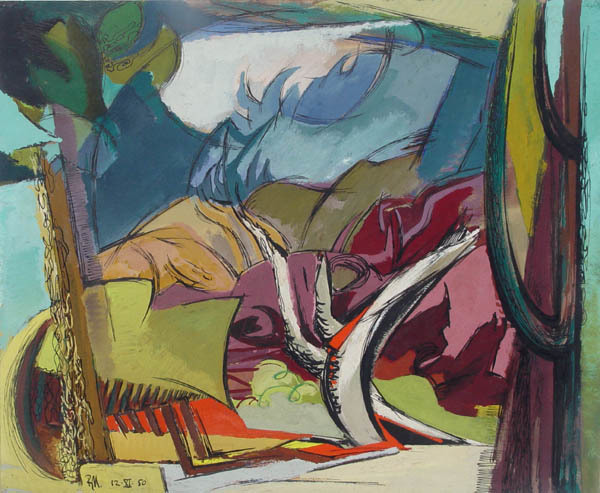 Ben Norris, 'Landscape Study II (for oil painting)', 1950, Childs Gallery
