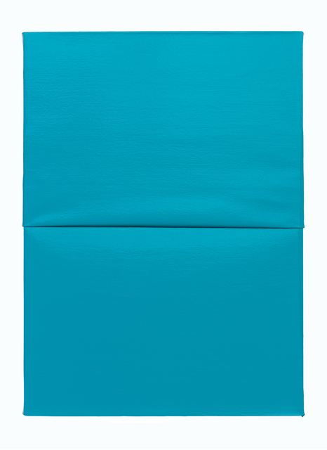 , 'Untitled I (Folded) Turquoise,' 2016, Galerie Thomas Schulte
