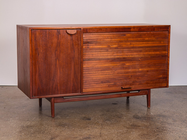 , 'Tambour Door Walnut Credenza,' ca. 1960, Open Air Modern