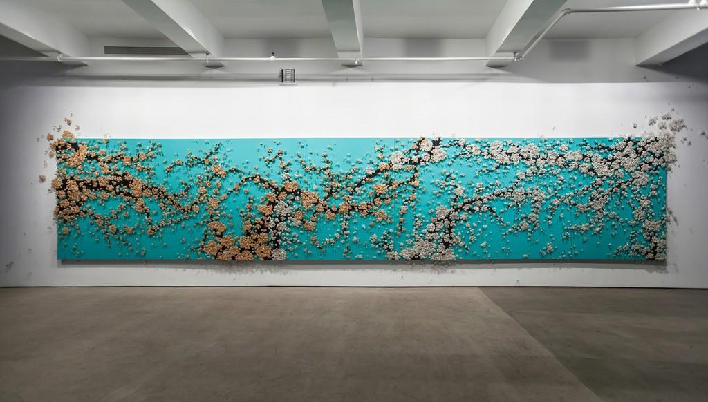 Ran Hwang, Healing Blossom, 170 x 826 cm(7p), 2012