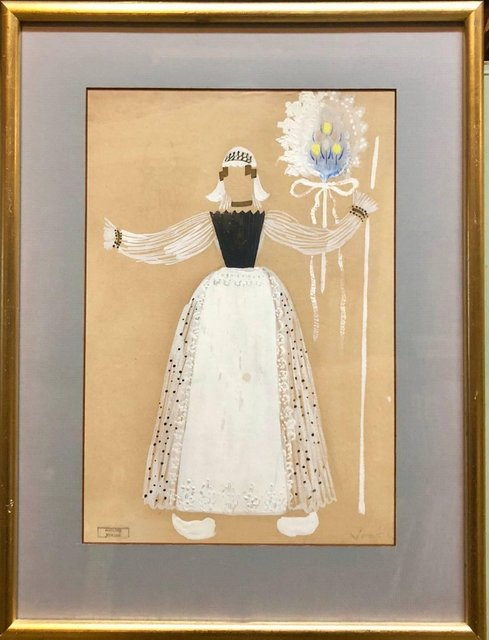 Marcel Vertes Original Art Deco Theatre Costume Illustration Katinka Gouache Painting Drawing 1930 1939 Available For Sale Artsy