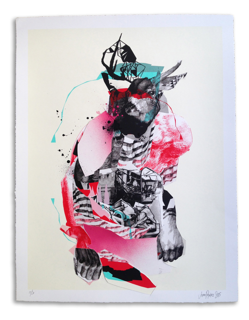 , ''Buckwild' Hand Embellished # 10,' 2015, StolenSpace Gallery
