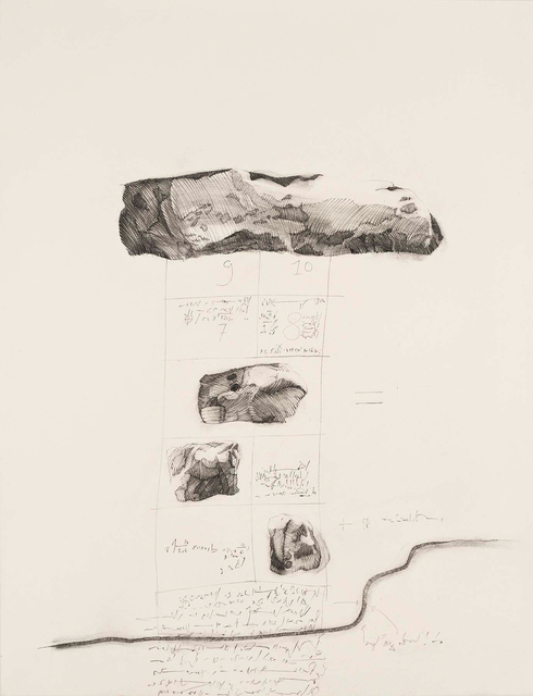 Barbara Chase-Riboud, 'Hop-Scotch Number 6', 1973, Drawing, Collage or other Work on Paper, Charcoal and charcoal pencil on paper, Michael Rosenfeld Gallery