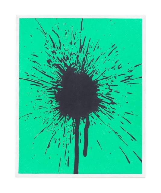 , 'Black/Green Splatter Study,' 2017, Gavlak