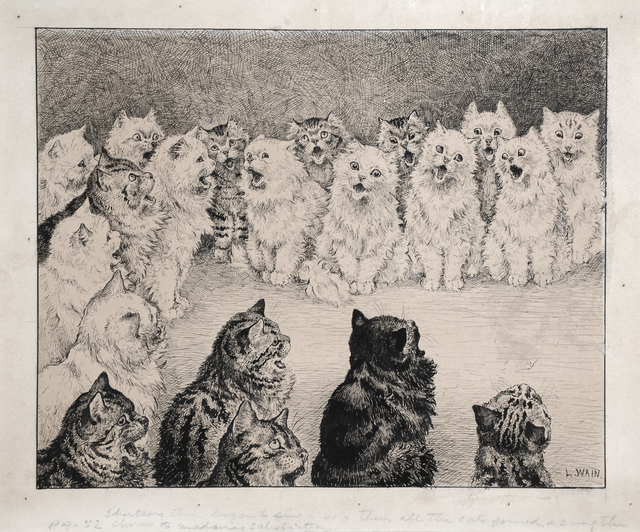 , 'Shortears Began And Sung A Solo. Then All The Cats Joined And Sung The Chorus To Madame's Satisfaction,' , Chris Beetles Gallery
