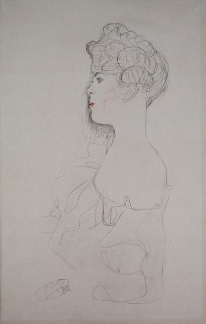 Gustav Klimt, 'Portrait of a Woman [Fünfundzwanzig Handzeichnungen]', 1919, Jason Jacques Gallery