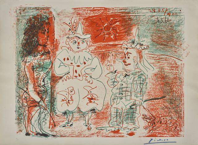 Pablo Picasso, 'L'Ecuyère et les Clowns', 1961, Galerie Jean-François Cazeau