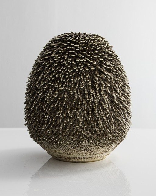 , 'Unique, Hand-thrown Big Soholelange Accretion with Cameroon and Color Changing Slip in Clear Glaze,' 2015, R & Company