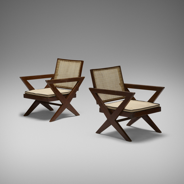 Pierre Jeanneret, 'Lounge Chairs from Chandigarh, Pair', c. 1960, Wright