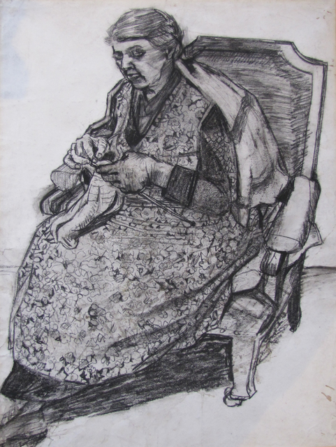 , 'Woman Knitting,' ca. 1948, The Scottish Gallery