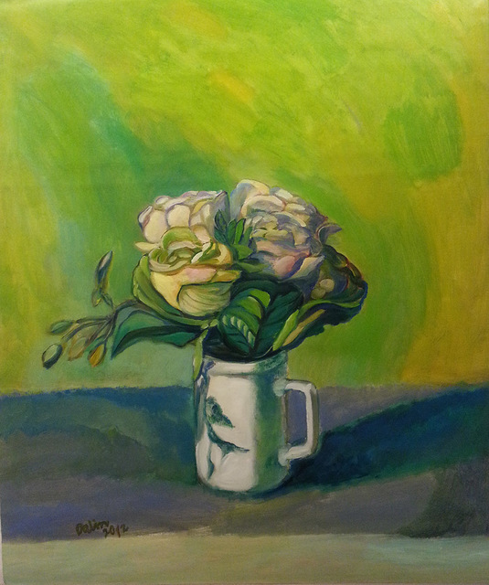 , 'Roses (Green background),' 2012, Alisan Fine Arts