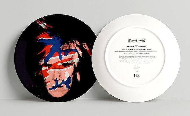 Andy Warhol, 'Camouflage Self-Portrait, 1986 (Plate)', 2020, Mixed Media, Plate, Taglialatella Galleries