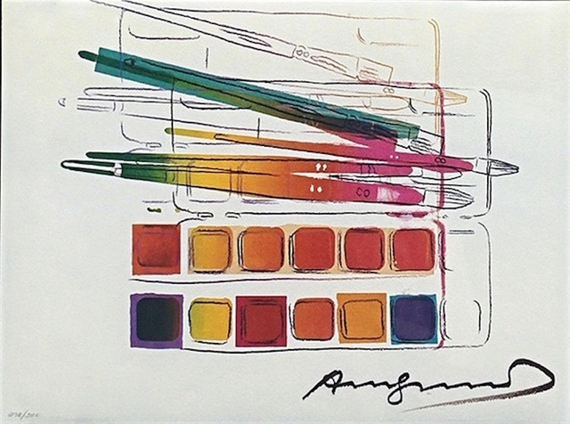 Andy Warhol, 'Watercolor Paint Kit with Brushed II.288', 1982, OSME Fine Art