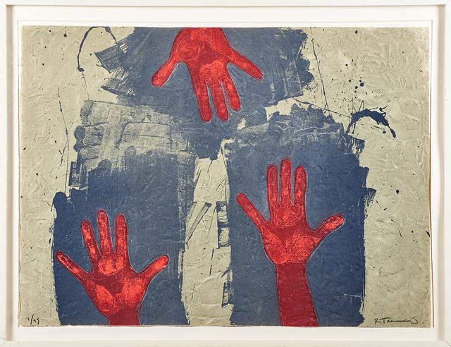 Rufino Tamayo, 'Manos sobre fondo azul', 1979, Rago