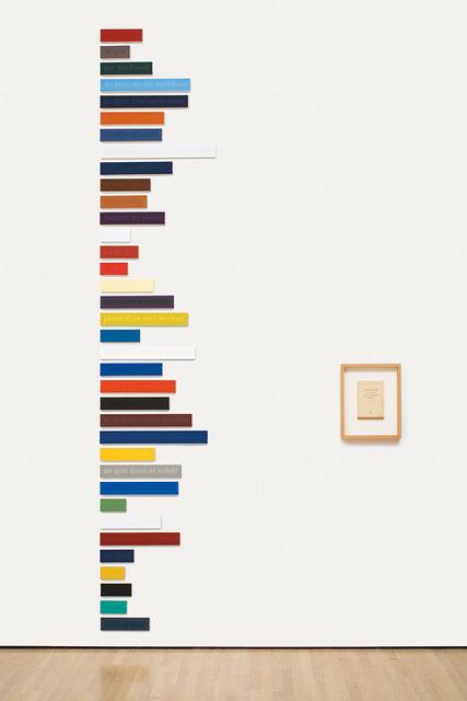 , 'Les Couleurs de Cézanne dans les mots de Rilke 36/100 – Essai,' 1998, Vancouver Art Gallery