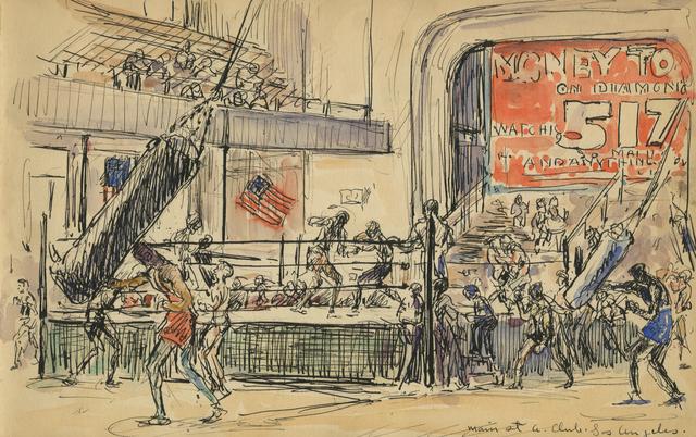 , 'Main St. Athletic Club,' 1929, Anthony's Fine Art