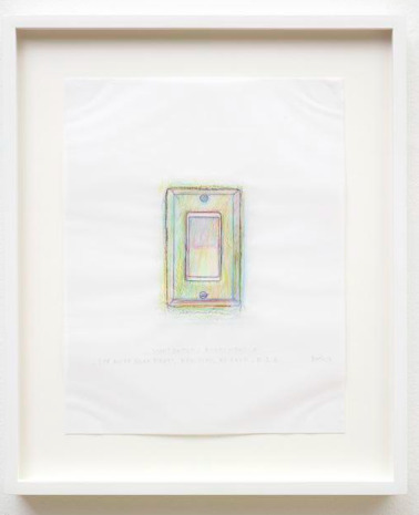 Do Ho Suh, 'Rubbing/Loving Project: Light Switch, Apartment A, 348 West 22nd Street, New York, NY 10011 USA', 2014, Painting, Colored pencil on vellum, Joyce Varvatos