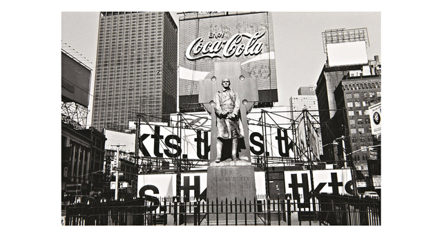 , 'Times Square photograph, Father Duffy, New York City,' 1974, G. Gibson Gallery