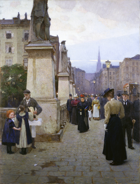 , 'View of Elisabeth Bridge in Kärntnerstrasse (early evening),' 1897, Belvedere Museum