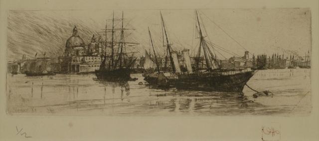 Otto Henry Bacher, 'Bacino, Venice', 1880, Private Collection, NY