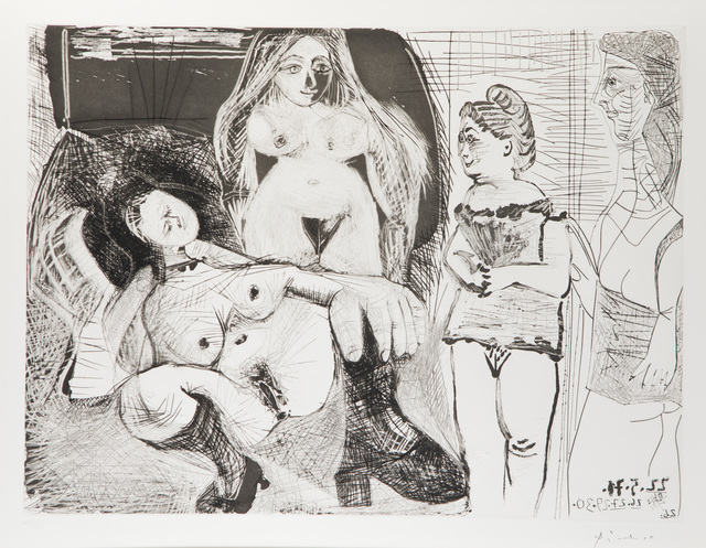 """Pablo Picasso, 'Untitled from the """"156 Series', 1971, John Moran Auctioneers"""