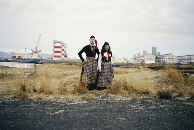 , 'Untitled (Portrait of the artists wearing the Icelandic women´s costume; Peysuföt and Upphlutur),' 2000/06, waterside contemporary
