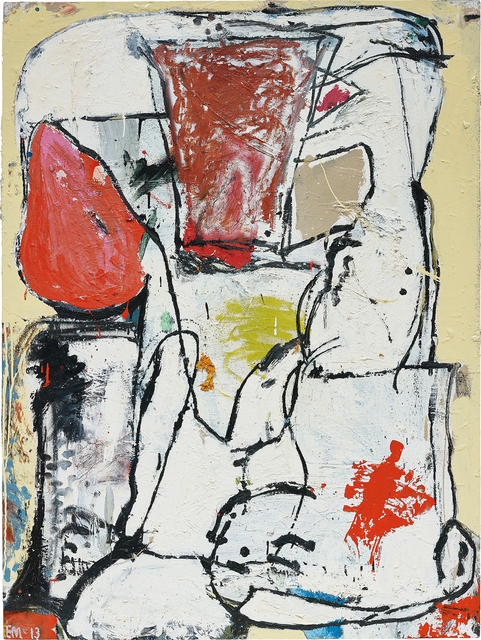Eddie Martinez, 'Reverse Motivation', 2013, Painting, Oil, enamel and spray paint on panel, Phillips