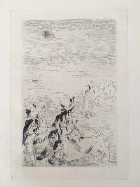 Pierre-Auguste Renoir, 'Sur la plage, à Berneval (D.; S. 5)', ca. 1892, Puccio Fine Art