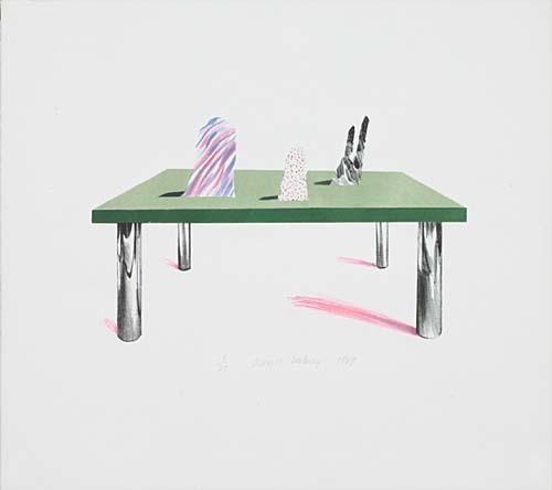 David Hockney, 'Glass Table with Objects', 1969, Vanessa Villegas Art Advisory