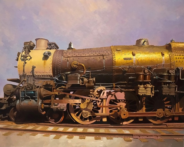, 'Golden Locomotive,' 2017, RJD Gallery