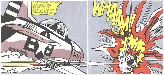 Roy Lichtenstein, 'Whaam! (Diptych)', 1982, Posters, Offset Lithograph, ArtWise