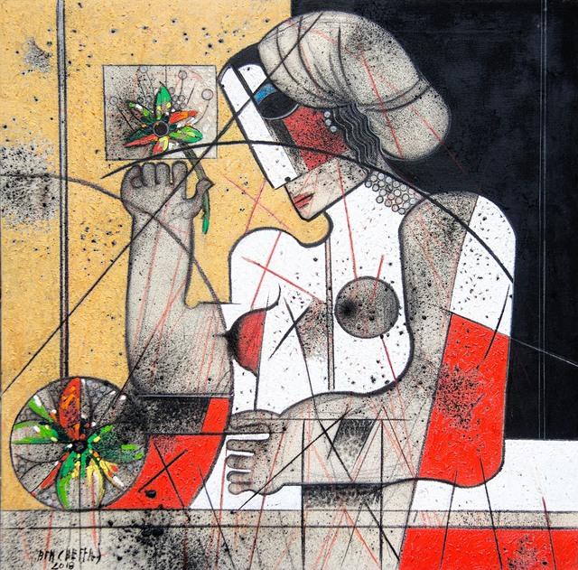 Saâd Ben Cheffaj, 'L'exaltation de la fleur', 2018, L'Atelier 21