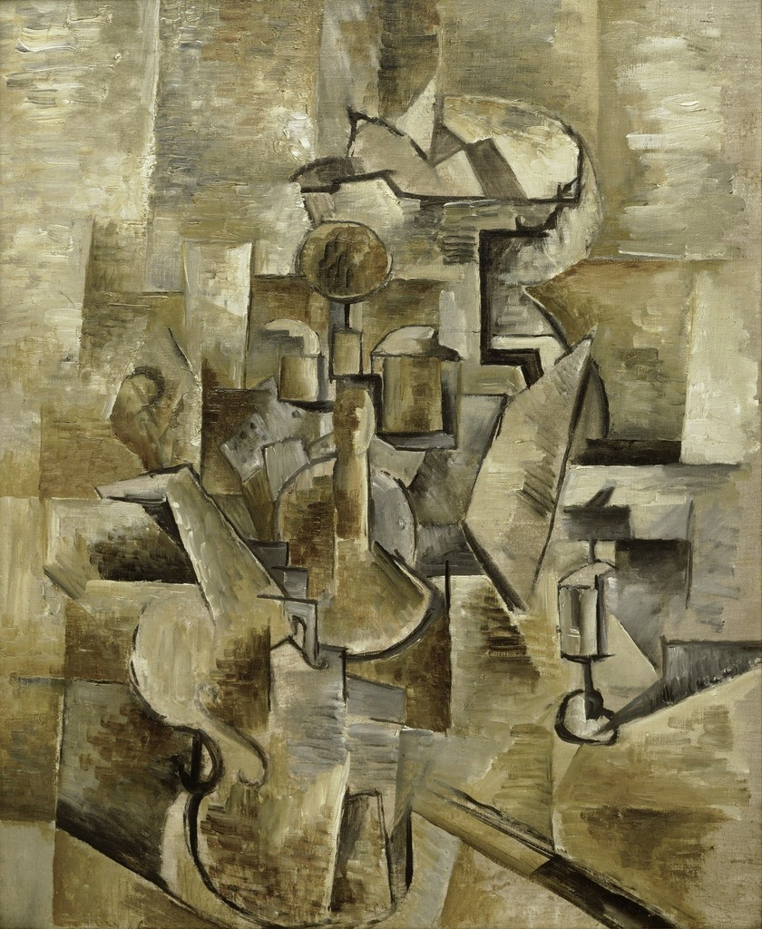 Georges Braque, 'Violin and Candlestick,' 1910, San Francisco Museum of Modern Art (SFMOMA)