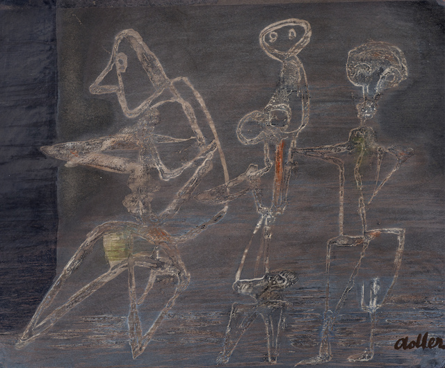 , 'Three Figures in a Landscape ,' ca. 1948, Ben Uri Gallery and Museum