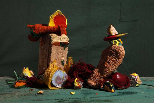 Lorenzo Vitturi, 'Fused Cotisso, Terracotta, Manta, Cochinilla Dyed Yarn, Green Pigment, Plum in Gocta', 2019, Flowers