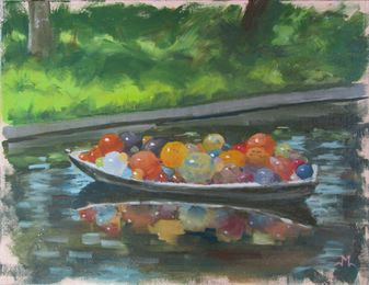 Chihuly Boat- NYBG