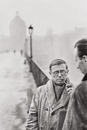 Jean-Paul Sartre, Le Pont des Arts, Paris