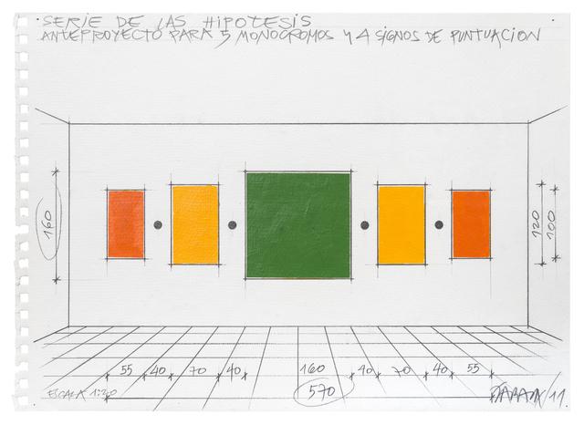 , 'Anteproyecto para 5 monocromos y 4 signos de puntuación,' 2011, Henrique Faria   Buenos Aires