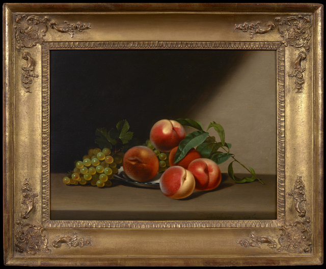 , 'Still Life with Peaches and Grapes,' 1822, Debra Force Fine Art