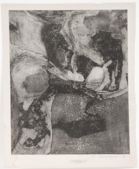 Deborah Remington, 'Untitled B&W Abstraction #1', 1950, Sragow Gallery