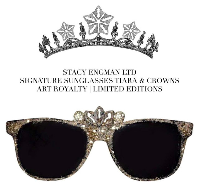 , 'Art Royalty- Signature Diamond Dust Sunglasses- Tiara,' , ART CAPSUL