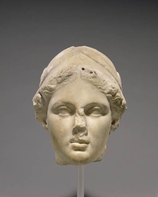 'Head of Athena', 160 -150 BCE, J. Paul Getty Museum