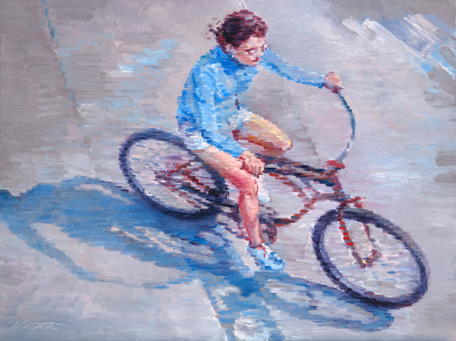 , 'Woman Riding a Bicycle in Southern California,' 2015, ViVO Contemporary