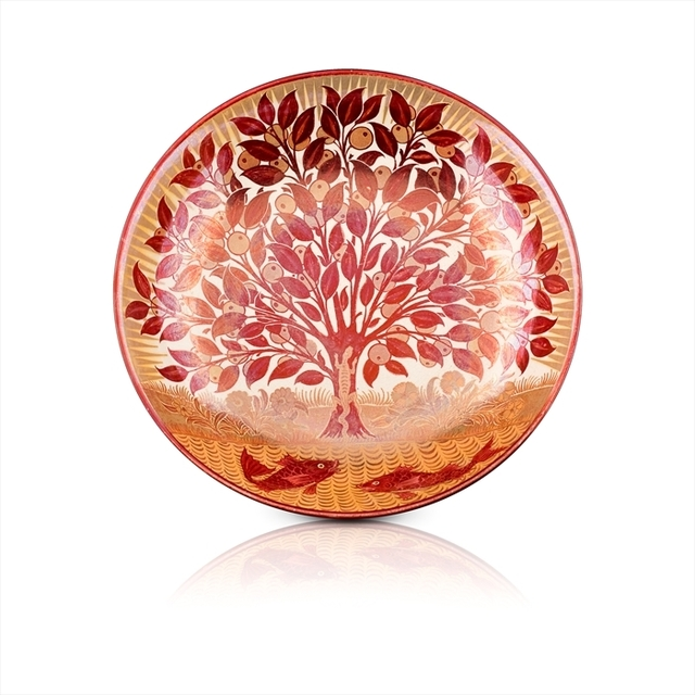 , 'Red Lustre Charger decorated with a Lizard climbing an Orange Tree,' ca. 1885, The Fine Art Society