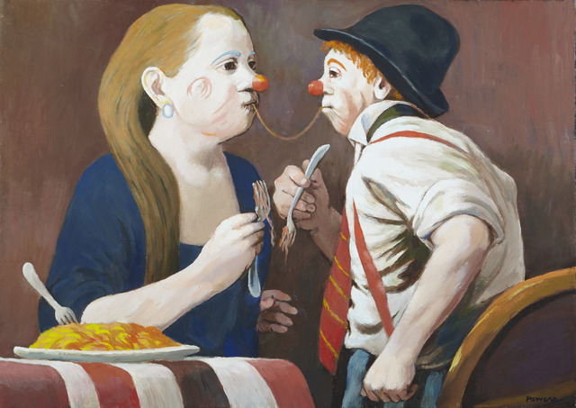 , '[Clown Couple],' Unknown, Childs Gallery