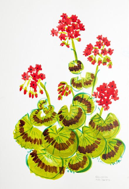 , 'Geraniums,' 2012, Gallery Espace
