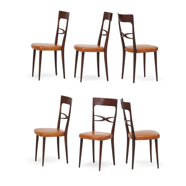 Melchiorre Bega, 'Six tallback dining chairs', 1950s, Rago